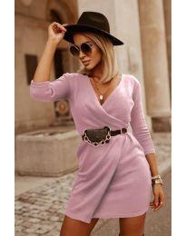 Šaty - kód 9977 - pudrová