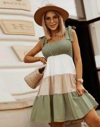 Šaty - kód 11922 - olivově zelená
