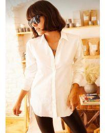 Дамска риза в бяло - код 10508