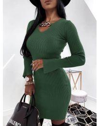 Šaty - kód 5666 - olivová  zelená