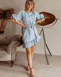 Šaty - kód 1350 - 1 - světle modrá