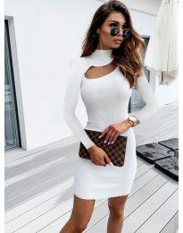 Šaty - kód 883 - bílá