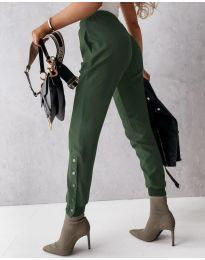 Kalhoty - kód 3987 - olivová  zelená