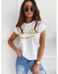 Tričko - kód 3659 - bíla