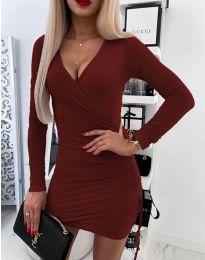 Šaty - kód 5513 - bordeaux