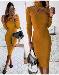 Šaty - kód 149 - hořčičná