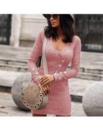 Šaty - kód 4516 - růžová