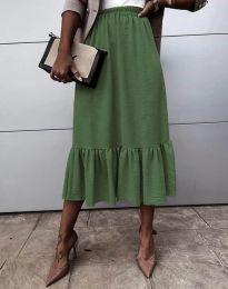 Sukně - kód 3463 - olivová  zelená