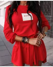Šaty - kód 0789 - 2 - červená