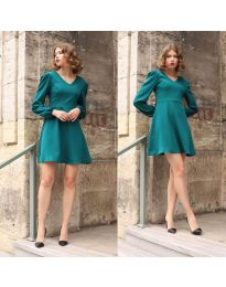 Šaty - kód 1478 - 3 - tyrkysový