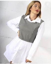 Košile - kód 9990 - 1 - bílá