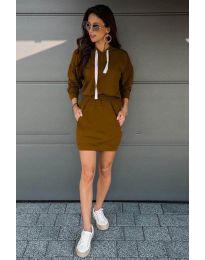 Šaty - kód 999 - hněda