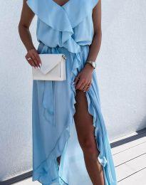 Šaty - kód 6432 - světle modrá