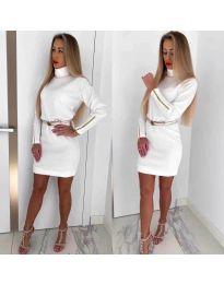 Šaty - kód 1788 - bíla