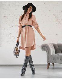 Šaty - kód 9601 - pudrová