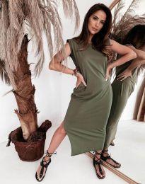 Šaty - kód 11996 - olivová  zelená