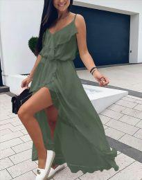 Šaty - kód 6432 - olivově zelená