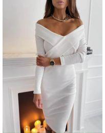Šaty - kód 6130 - bílá
