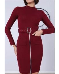Šaty - kód 2053 - 4 - bordeaux