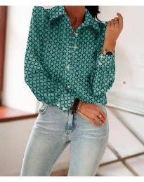 Košile - kód 654 - tyrkysový