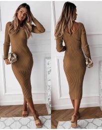 Šaty - kód 928 - hněda