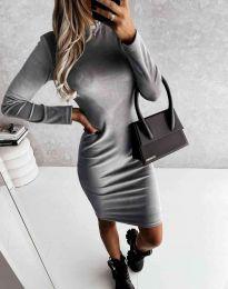 Šaty - kód 9368 - šedá
