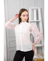 Košile - kód 0633 - 3 - bílá