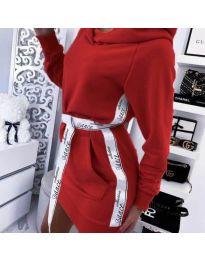 Šaty - kód 4483 - červená