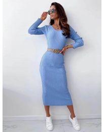Šaty - kód 5878 světle modrá