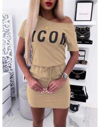 Šaty - kód 9905 - bežová