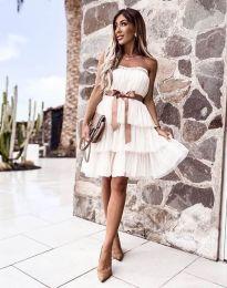 Šaty - kód 3065 - bílá