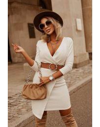 Šaty - kód 9977 - bílá