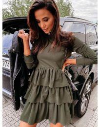 Šaty - kód 3109 - olivová  zelená