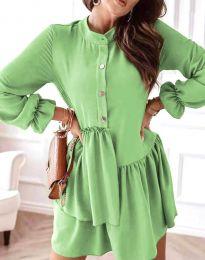 Šaty - kód 2829 - světle zelená