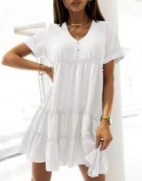 Šaty - kód 7205 - bílá