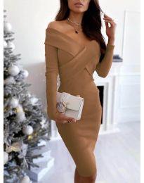 Šaty - kód 6130 - hněda