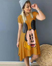 Šaty - kód 2304 - 2 - hořčičná