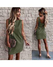 Šaty - kód 1156 - olivová  zelená