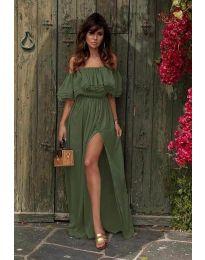 Šaty - kód 3336 - olivová  zelená