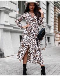 Šaty - kód 5555 - 3 - bílá