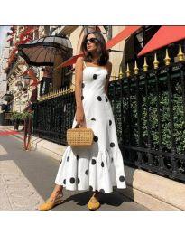 Šaty - kód 7011 - bílá