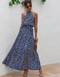 Šaty - kód 6214 - modrá