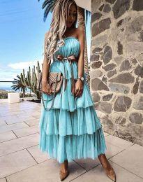 Šaty - kód 1543 - tyrkysový