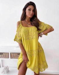 Šaty - kód 6954 - žlutá