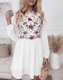 Šaty - kód 3482 - bíla