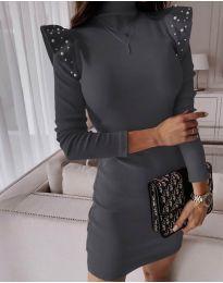 Šaty - kód 9494 - tmavě šedá