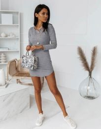 Šaty - kód 8856 - šedá
