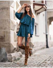 Šaty - kód 324 - tyrkysový