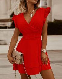 Šaty - kód 5654 - červená