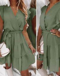 Šaty - kód 2345 - olivově zelená